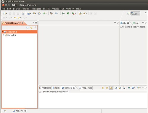 Ubuntu 12.04 Eclipse New C++ Project 3