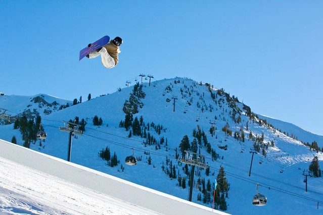 Mammoth snowboarder
