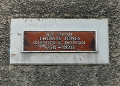 Photo of Thomas Jones brown plaque