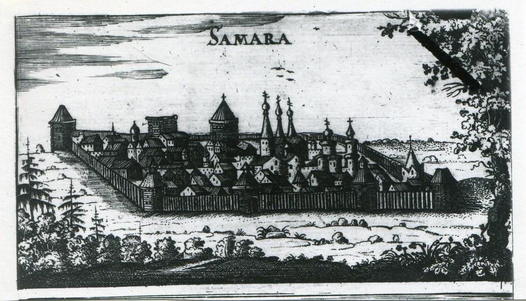 02_Вид Самары_рисунок Адама Олеария 1634