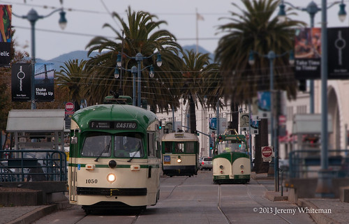 A sea of green on the Embarcadero