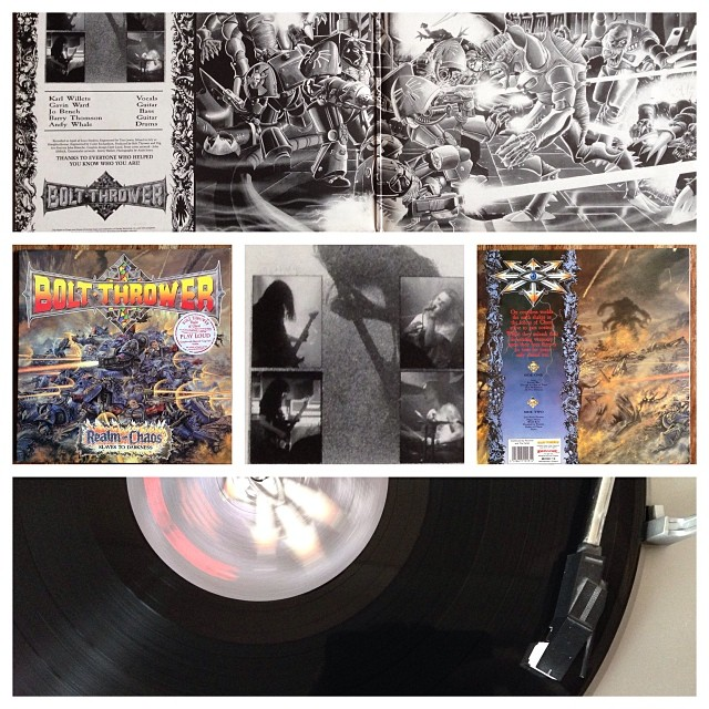 "091113_ #np ""Realm of Chaos"" by Bolt Thrower #vinyl"
