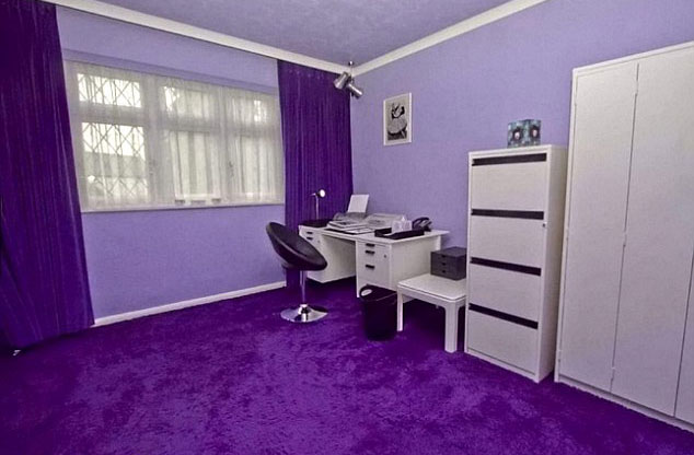 purple color combinations interior design