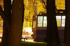 Moscow tram night