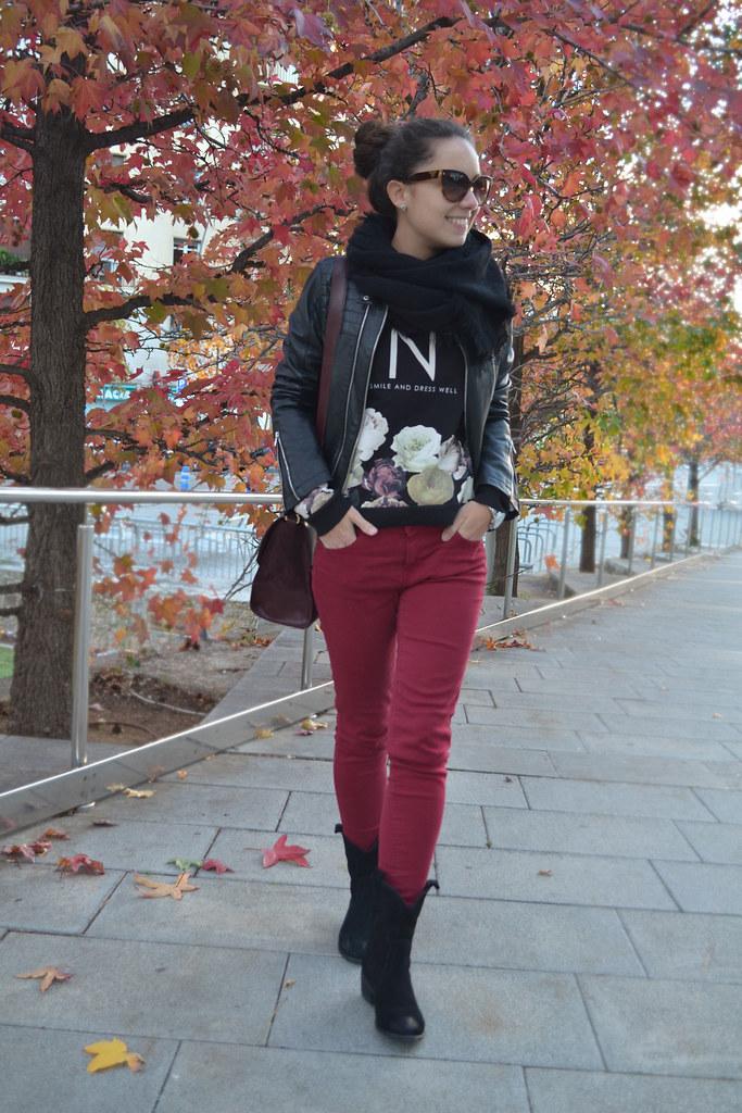 Camiseta de flores para el otoño