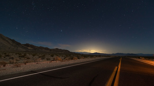 longexposure night stars highway deathvalley nightsky deathvalleynationalpark