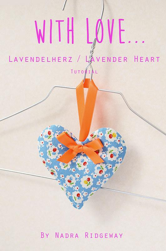 Lavendelherz / Lavender Heart Tutorial