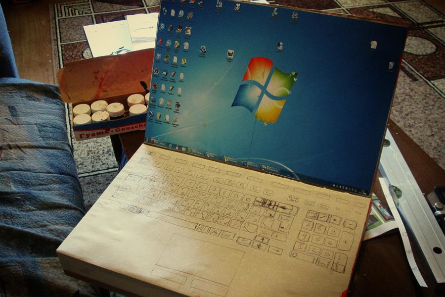 Как сделать из бумаги ноутбук 712
