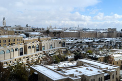 Rare Snow Blankets Jerusalem's Old City