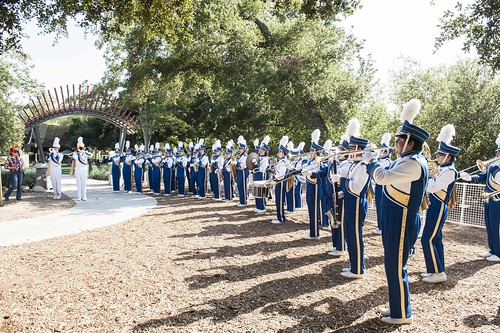 Nordhoff High School Marching Band performs in Libbey Park