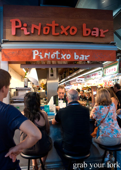Bar Pinotxo tapas bar at La Boqueria, Barcelona