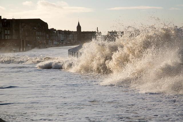 High Tide, Morecambe, England, UK