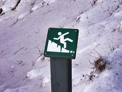Sign at Skógafoss