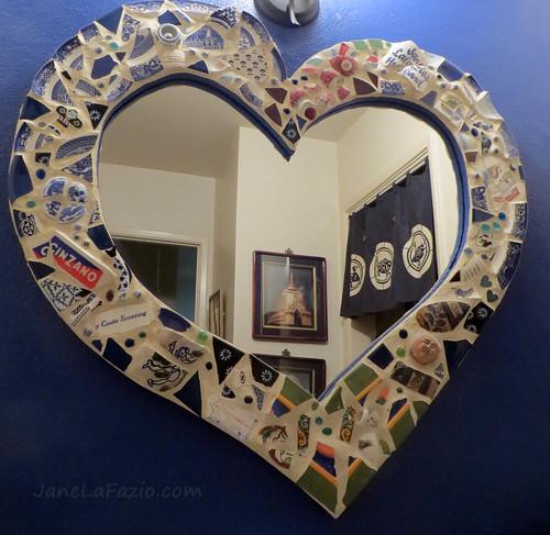 my mosaic mirror frame