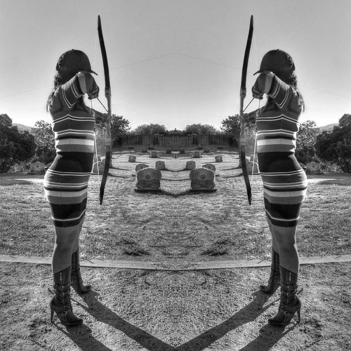california monochrome fav50 symmetry bow cupertino archery hdr 3xp photomatix stevenscreekcountypark nex6 selp1650