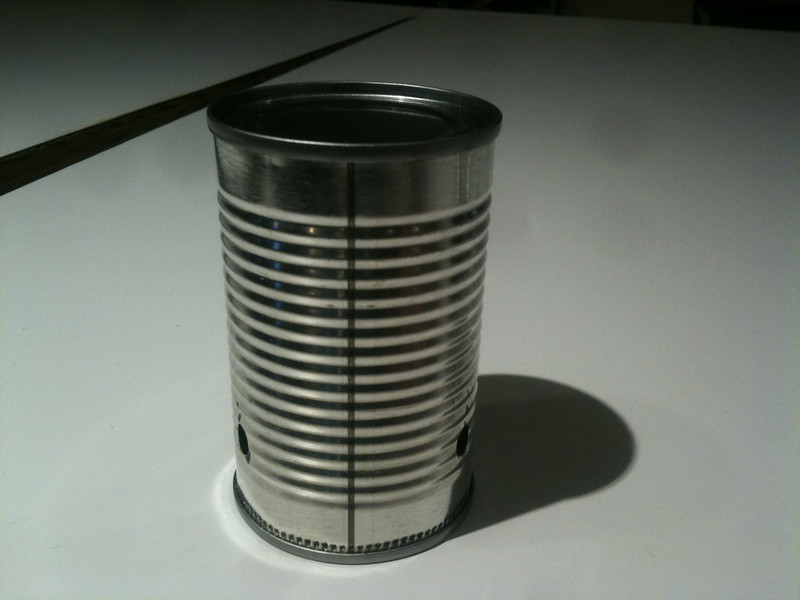 Make holes in can
