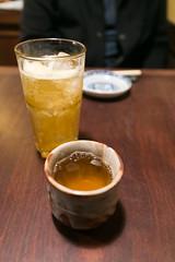 Tea and Ume-Syu (Plum Wine)