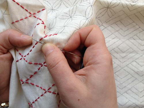 Sampler #5 In Progress: Sashiko