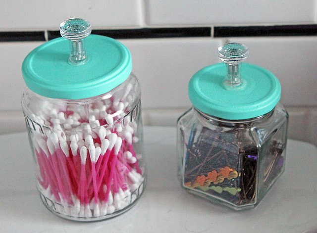 Upcycled Bathroom Jars