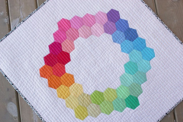 A Hexagon Mini Quilt.