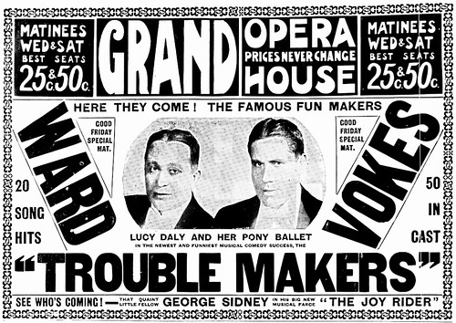 Vintage Ad: Those Trouble Makers, Ward and Vokes