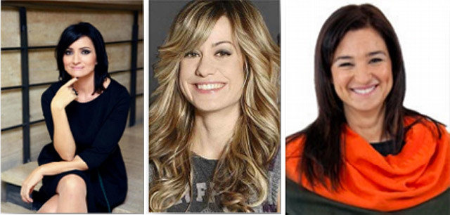 Silvia Abril, Alexandra Jiménez y Carolina Noriega