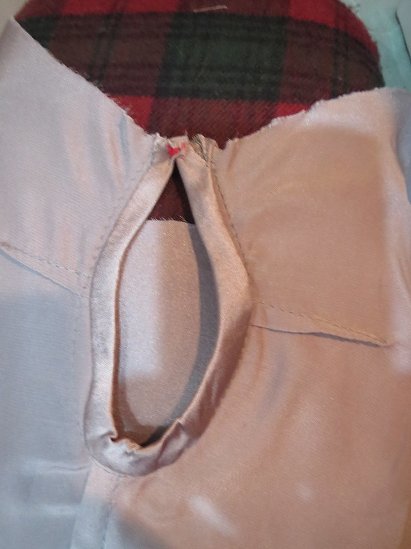 Hand Tack Upper Keyhole Edges Together