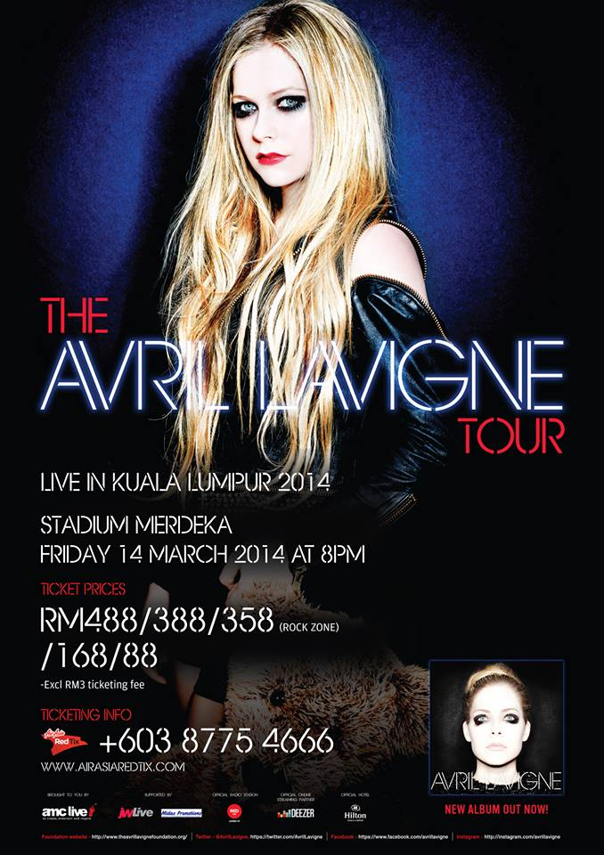 Konsert Avril Lavigne Live in Malaysia