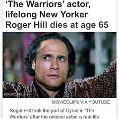 Can NOT dig this... RIP Cyrus! #canyoudigit #cyrus #thewarriors #rogerhill #riprogerhill