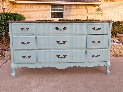 French Dresser with Annie Sloan Duck Egg Blue Paint