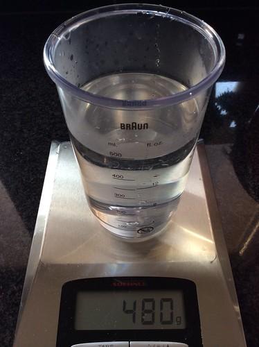 480ml handwarm water