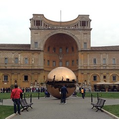 Giant golden snitch at the Vatican. #rome #travelgram #artthursday #harrypotter