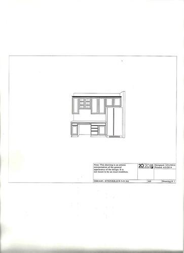 kitchen design fridge and desk view1