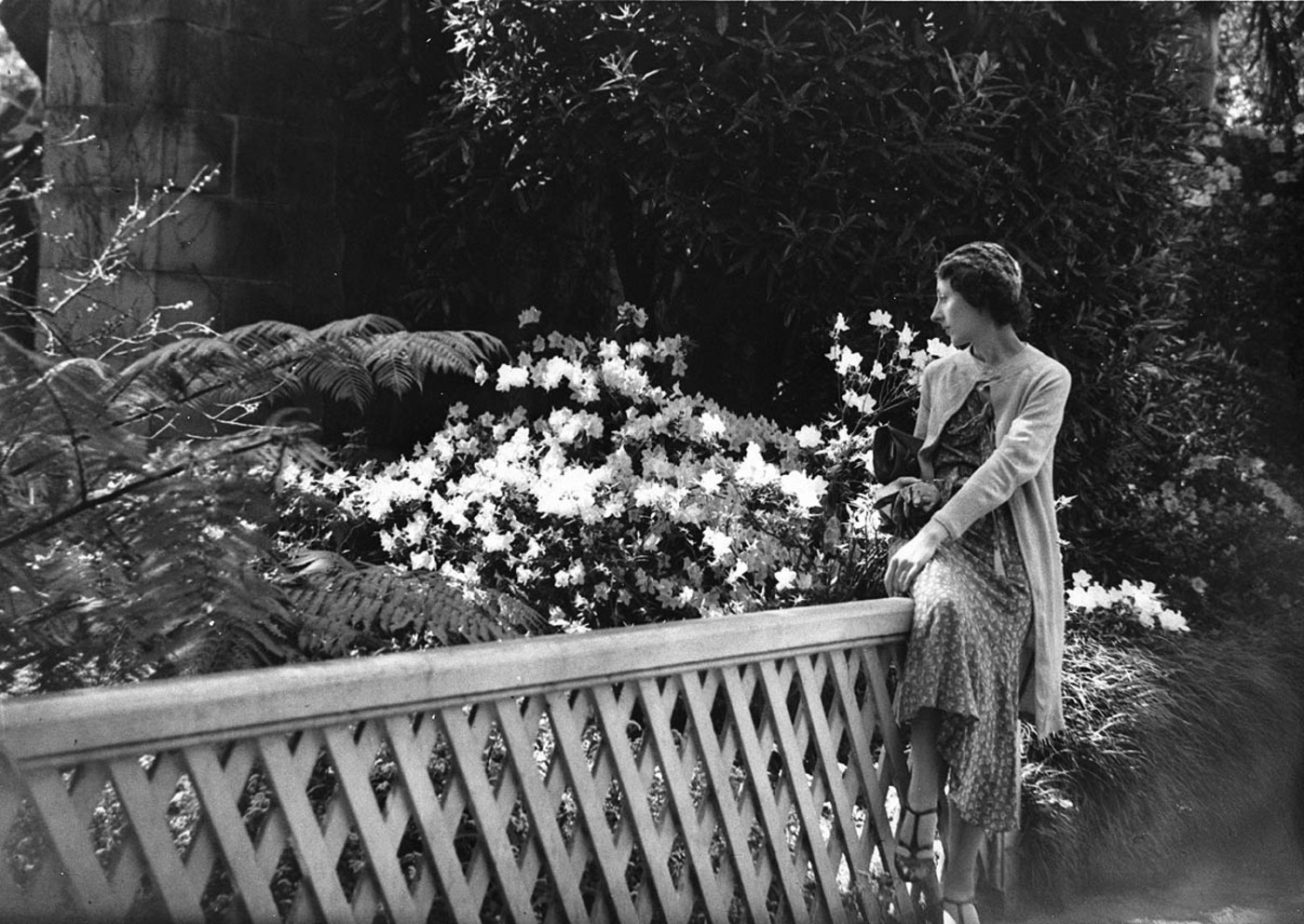 A woman in the Botanic Gardens, 13 Sept. 1934, by Sam Hood