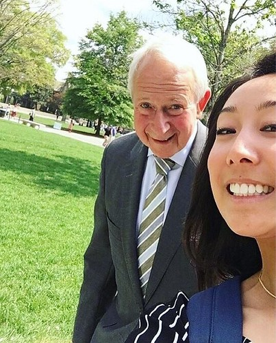 It's not every day you catch the president of our beloved university while running late to class, in his last few weeks on campus. But when that happens, of course you post it on Instagram!   : @hannahhchen