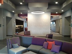 Indoor seating at the Homewood Suites in Trophy Club Texas.