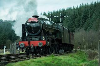 20170330-53a_The Royal Scot Engine 46100 Leaving Levisham Station