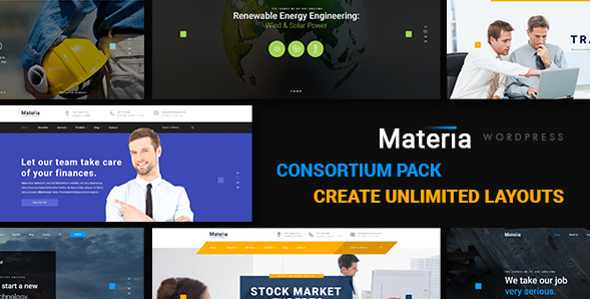 Materia WordPress Theme free download