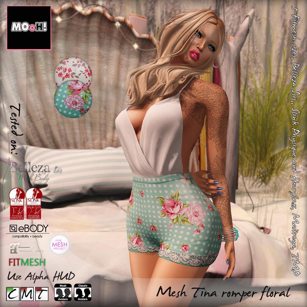 Tina romper floral - SecondLifeHub.com