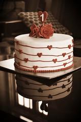-- And We Turned 1 --  #anniversary  #marriage  #anaPintu  #cake  #celebration  #vintage  #madeWithAviary  #nikon  #d7000