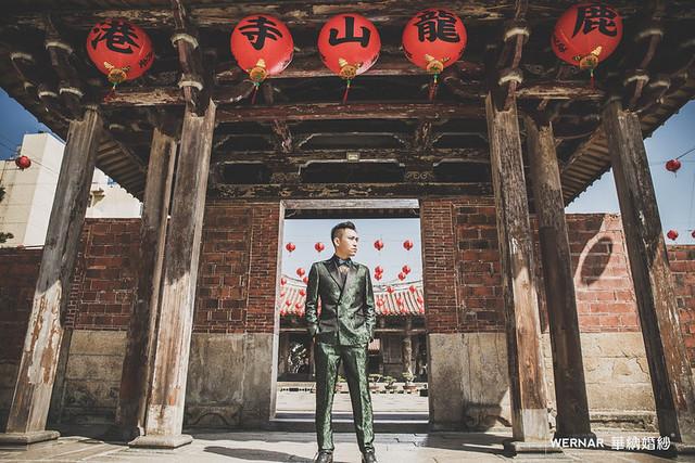 龍山寺,中國風,中式婚紗,拍婚紗,台灣旅拍,婚紗,婚紗照,婚紗旅拍,中式禮服,旗袍婚紗,中部婚紗外拍景點