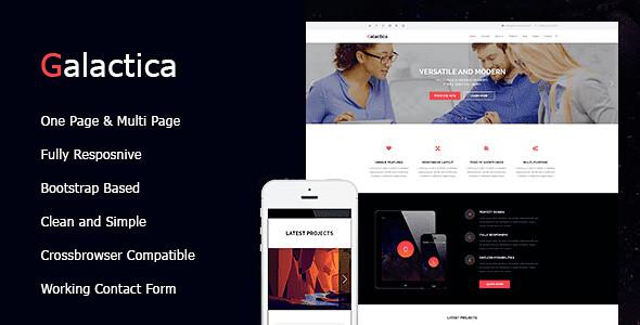 Galactica WordPress Theme free download