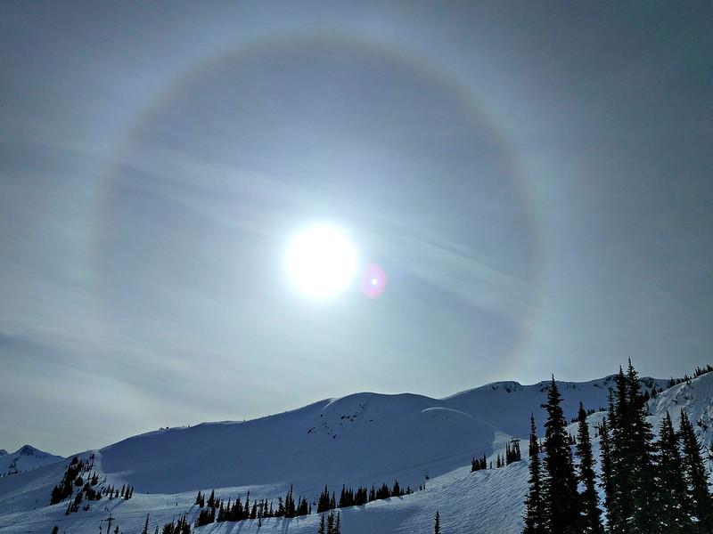 Sundog over Harmony Ridge