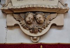two grieving cherubs