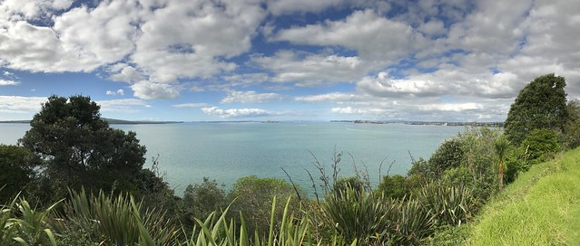 Auckland Harbor from North Head's Historic Preserve