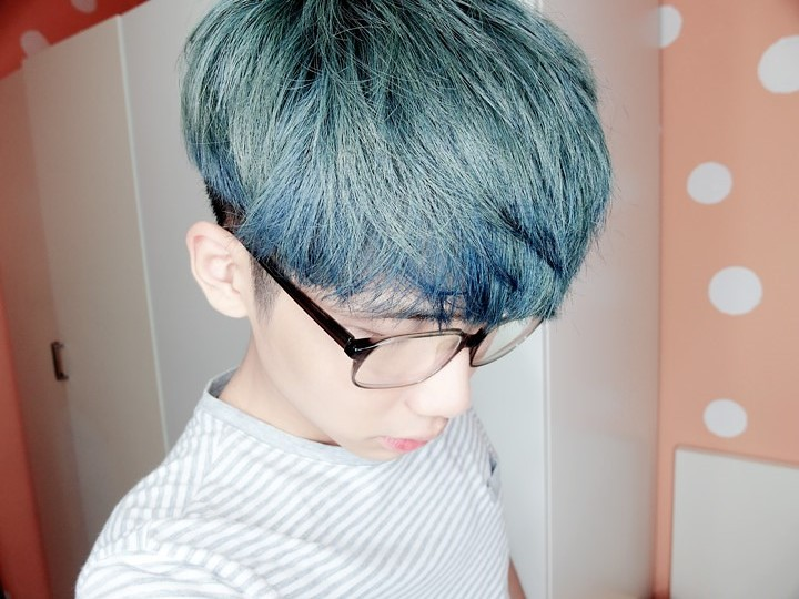 typicalben blue hair