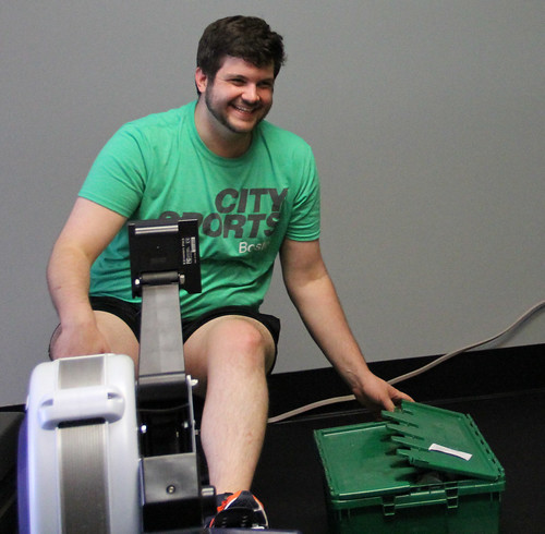 Paul on exercise machine