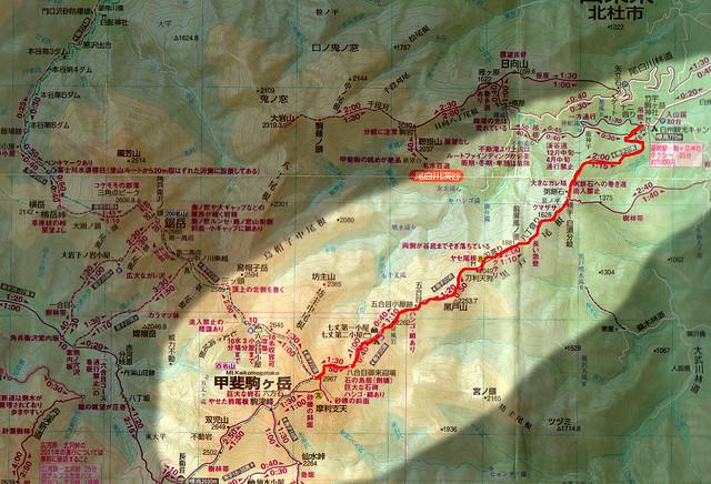 黒戸尾根地図