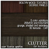 Clutter for Builders - Boleyn Wood Textures George Panels