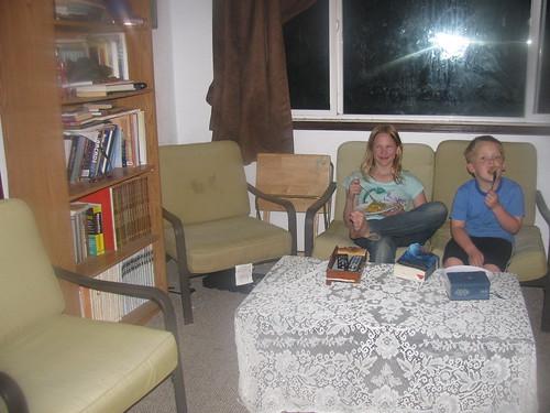 Kids like the new family room setup